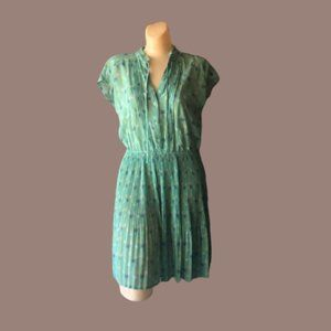 LC Lauren Conrad Pleated Sheer Palm Tree Dress